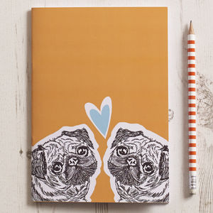 Pug Love Notebook - stationery-lover