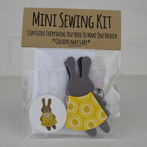 Mini Bunny Brooch Sewing Kit - easter activities
