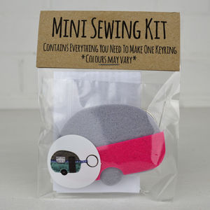 Mini Caravan Keyring Sewing Kit