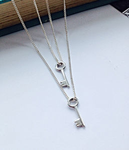 Mini Key Double Necklace Your Place And Mine - charm jewellery