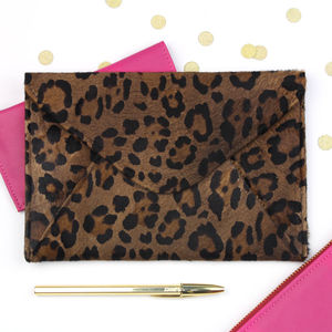 Undercover Leopard Leather iPad Mini Envelope - gifts for her