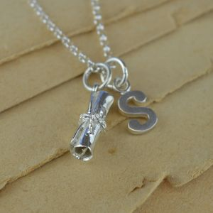 Graduation Charm Necklace With Personalised Message - graduation gifts