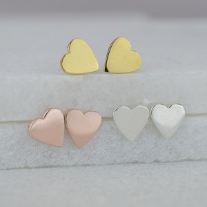 Heart Stud Earrings - wedding jewellery