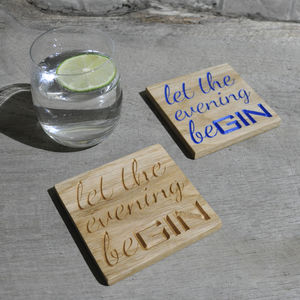 Gin Oak Coaster - 40th birthday gifts