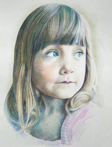 Person Or Pet Pencil Portrait From Photograph - photography & portraits for children